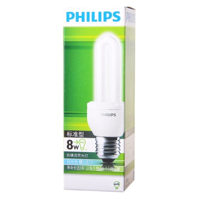Philips Essential Energy Saver Cool Daylight E27 Bulb 8w