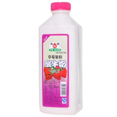He Run Strawberry Pulp Yoghurt 910g