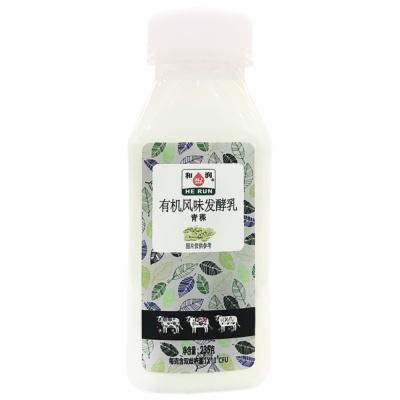 He Run Organic Green Barley Yogurt 235g