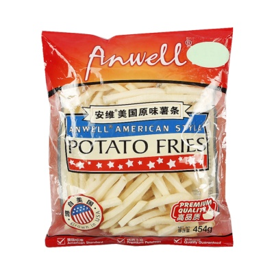 Anwell American Style Frozen French Fries 454g