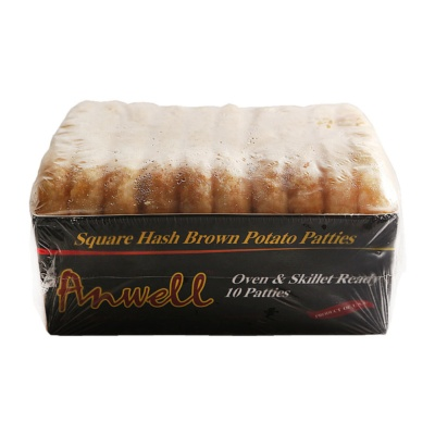 Anwell Square Hash Brown Potato Patties 620g