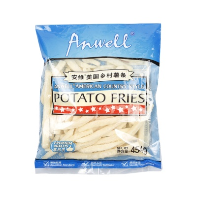 Anwell American Country Style Potato Fries 454g