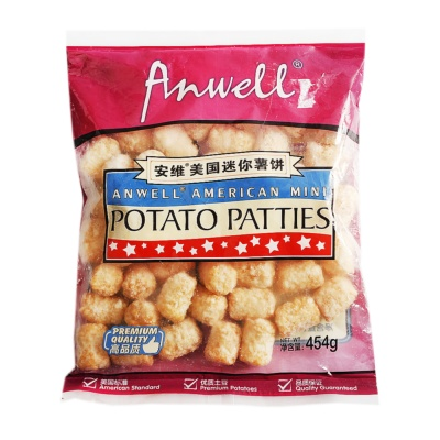 Anwell American Mini Potato Pattues 454g