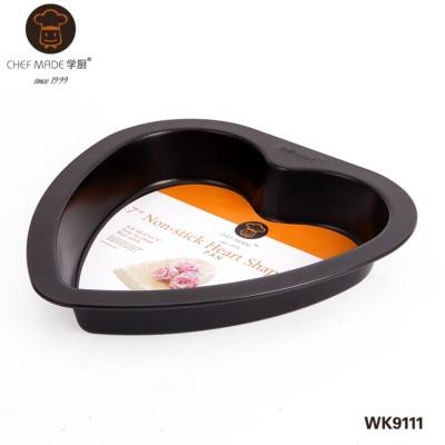7寸不粘心形烤盘(黑色) 243g