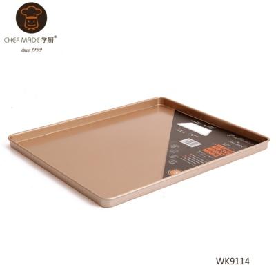 不粘12寸方形烤盘(金色) 679g