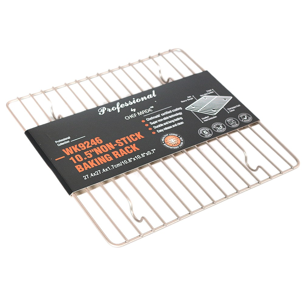 Chefmrde 10.5'' Non-stick Baking Rack 27.4*27.4*1.7cm