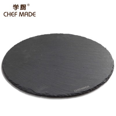 Chefmade Round Basalt Plate Φ25cm