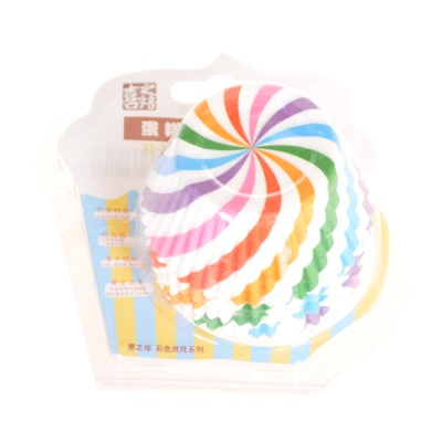 Happy Baking Cups Rainbow 8*5*2.8cm 100P