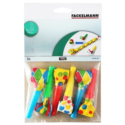 6 Party Blowers 36cm Riocard