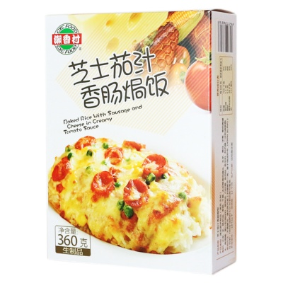 Cheese Tomato Sauce Sausage Baked Rice(Frozen) 360g