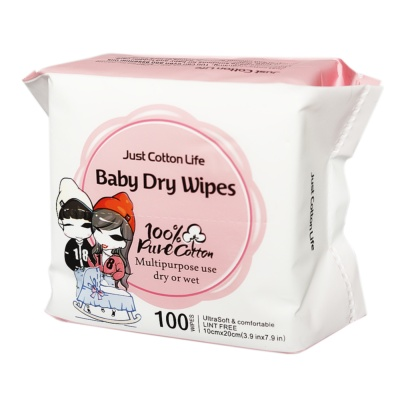 Just Cotton Life Baby Dry Wipes 100pcs