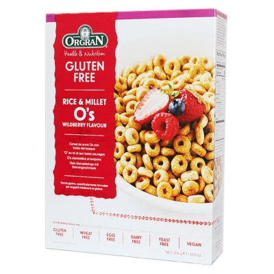 Orgran Rice & Millet O's Wildberry Flavour 300g