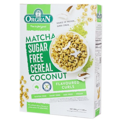 Orgran Matcha Coconut Flavoured Cereal 200g