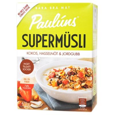 Pauluns Coconut Hazelnut&Strawberry Muesli 470g