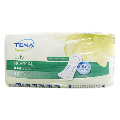 Tena Lady Normal Pads Bind Side 12pcs