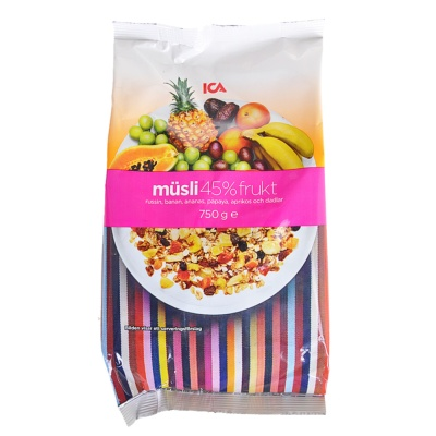 ICA 45% Fruit Musli 750g