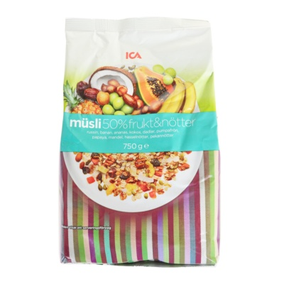 ICA 50%Fruits&Nuts Oats 750g