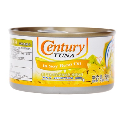 Century Tuna in soy Bean Oil 180g