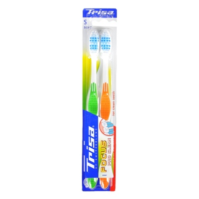 Trisa Cleaning Soft-bristle Toothbrush 2pcs