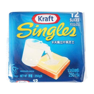 卡夫独立片装再制干酪(12片) 250g