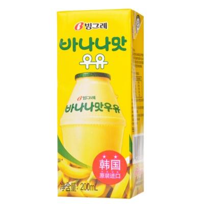宾格瑞牌香蕉味牛奶饮料 200ml