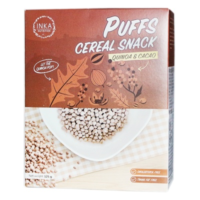 Inka Nutrition Puffs Cereal Snack (Quinoa & Cacao) 125g