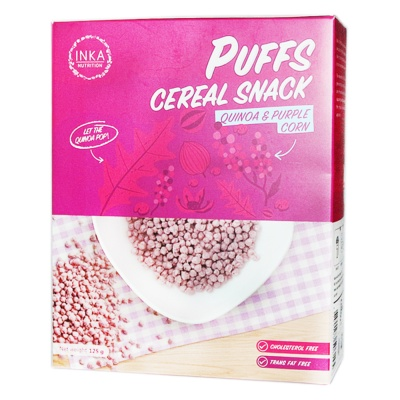 Inka Nutrition Puffs Cereal Snack (Quinoa & Purple Corn) 125g