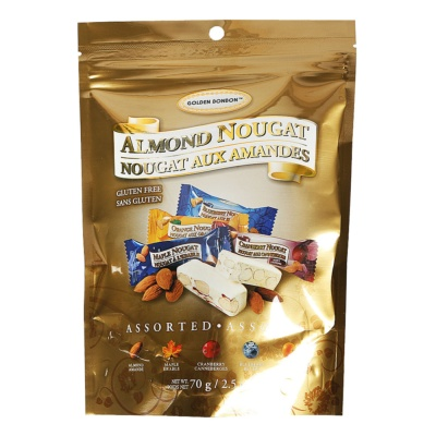 Golden Bonbon Honey Almond Assorted Nougat 70g