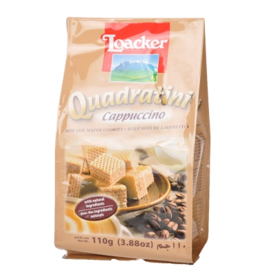 Loacker Quadratini Cappuccino Wafer Cookie 110g