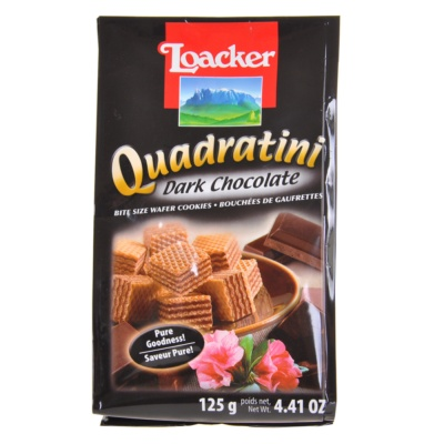 Loacker Quadratini Dark Chocolate Wafer Cookies 125g