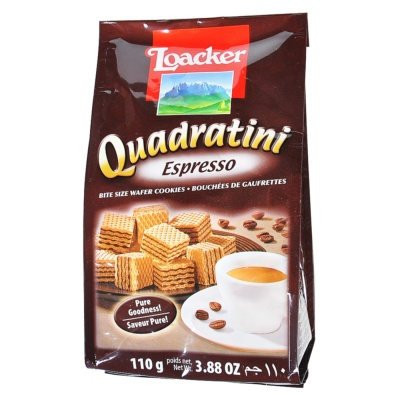 Loacker Quadratini Espresso Wafer 110g