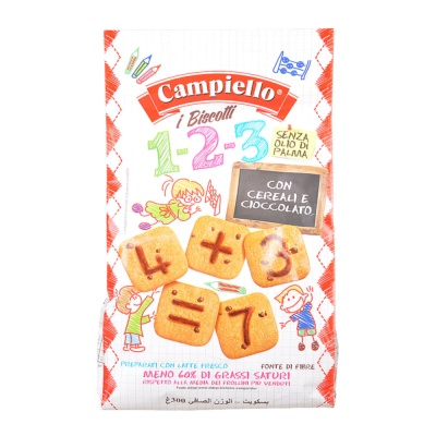 Campiello Letter Cereals&Chocolate Biscuits 300g