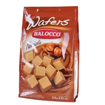 Balocco Hazelnut Cream Crispy Wafers 250g