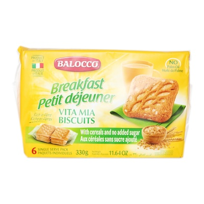 Balocco Cereals Biscuits (No Added Sugar) 330g