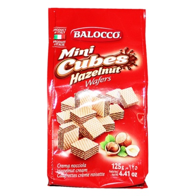 Balocco Mini Cubes Hazelnut Wafers 125g