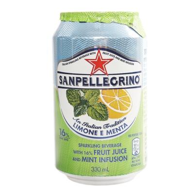 Sanpellegrino Sparkling Beverage with Fruit Juice & Mint Infusion 330ml