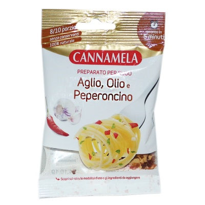 Cannamela Garlic Chili Oil Dried Mix For Pasta 18g