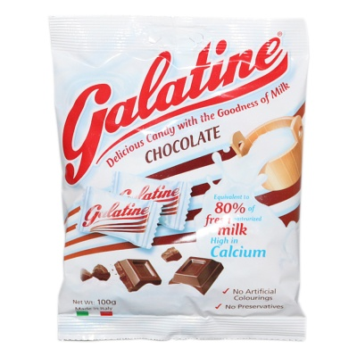 Galatine Milk Candy With Chocolate 100g
