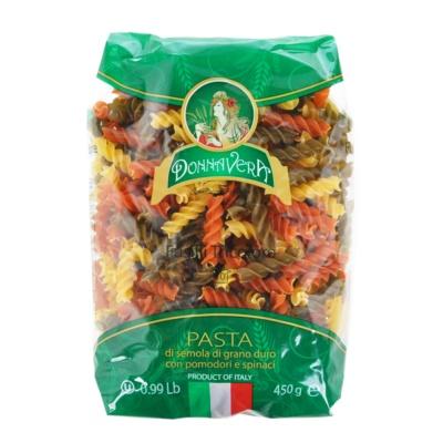 Donna Vera Fusilli Tricolore Pasta 450g