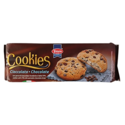 Tonon Cookies With Milk And Plain Chocolate Drops -Flowpack 150g