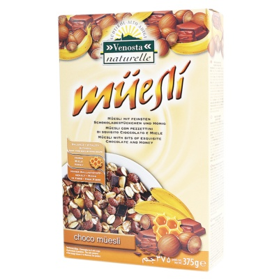 Venosta Chocolate & Honey Banana Muesli 375g