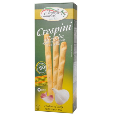 Fratelli Laurieri Breadsticks Garlic 125g