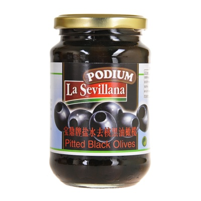 Podium Pitted Black Olives 350g