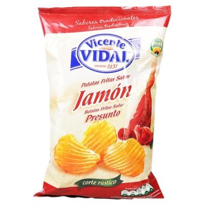Vidal Ham Flavored Chips 135g