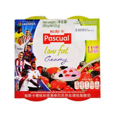 Pascual Low Fat Cherries&Berries 4*125g
