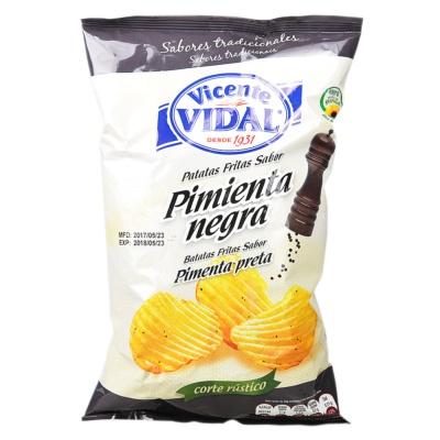 Vidal Black Pepper Flavor Potato Chips 135g
