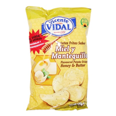 Vidal Honey & Butter Flavoured Potato Crisps 135g