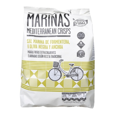 Vidal Black Olive And Anchovy Potato Chips 150g