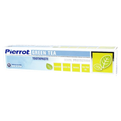 Pierrot Toothpaste (Fluoride,Green tea,Papaya,Tea Tree Oil) 75ml