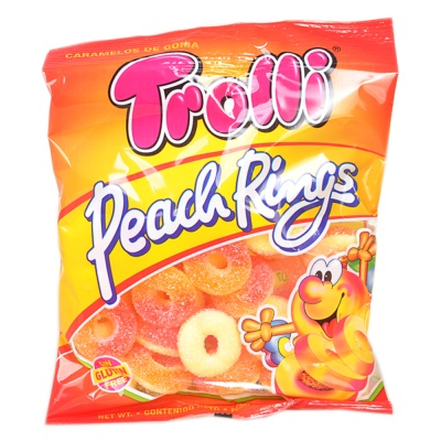 Trolli Peach Rings Candy 100g